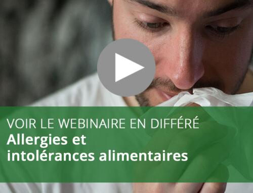 Webinaire : Allergies et intolérances alimentaires