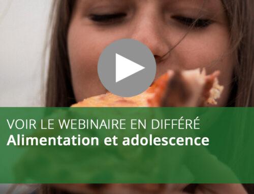 Webinaire : Alimentation et adolescence