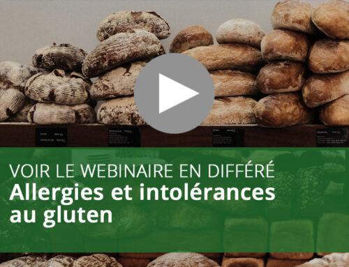 Webinaire : Allergies et intolérances au gluten