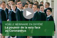 Le pouvoir de la voix face au coronavirus