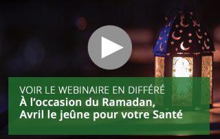 À l'occasion du Ramadan, Avril le jeûne pour votre Santé