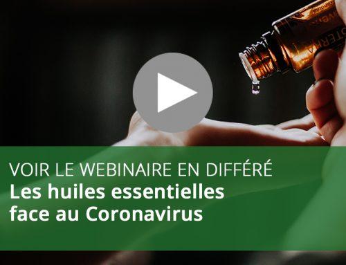 Webinaire : Les huiles essentielles face au Coronavirus