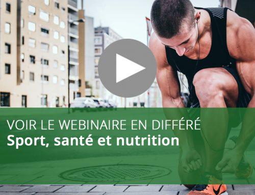 Webinaire : Sport, santé et nutrition