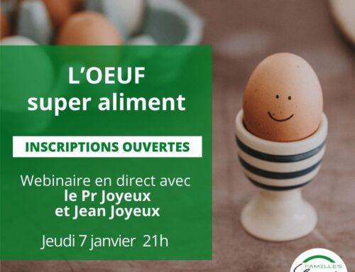 Webinaire : Superaliments: L'œuf super aliment