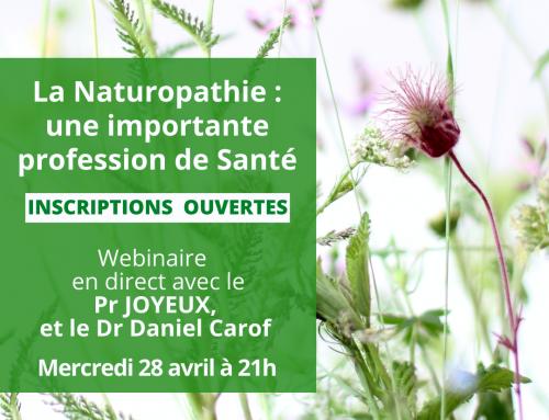 Webinaire : La Naturopathie une importante profession de Santé