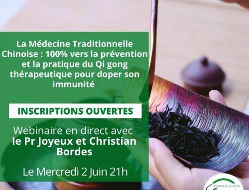 Webinaire :  La Médecine Traditionnelle Chinoise : 100% vers la prévention et la pratique du Qi gong thérapeutique pour doper son immunité