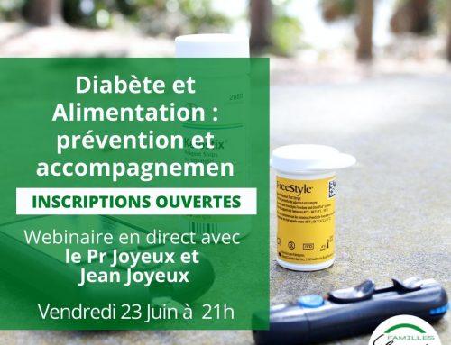 Webinaire :  Diabète et Alimentation : prévention et accompagnement