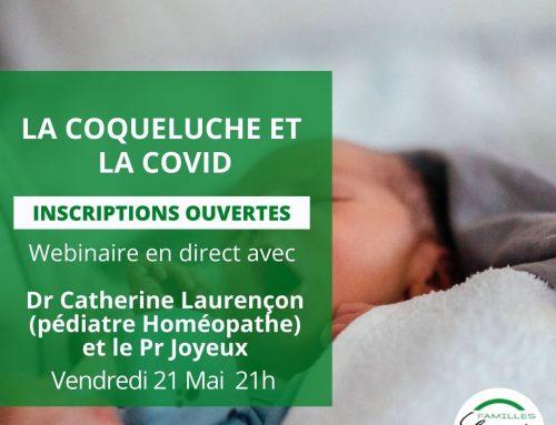 Webinaire : LA COVID DES ENFANTS ET LA COQUELUCHE : QUELLES DIFFÉRENCES