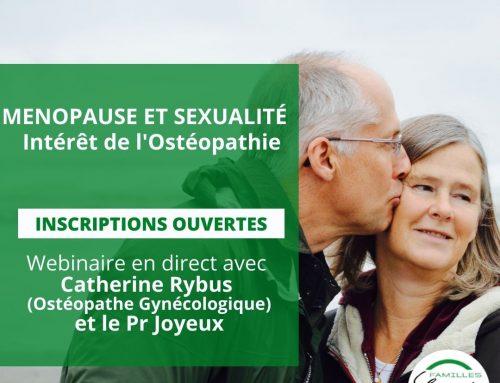 Webinaire :  MENOPAUSE ET SEXUALITÉ – Intérêt de l'Ostéopathie